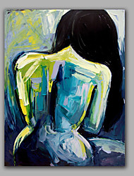 Обнаженная женщина обратно картина маслом с растянутыми дизайна моды современного искусства стены