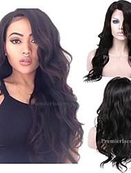 2016 New Premierlacewigs Sexy Big Wave Side Part Celeb Style Brazilian Virgin Human Hair Lace Wigs For Women