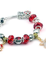 Bracelet Charmes pour Bracelets / Bracelets Vintage Alliage Soirée / Quotidien / Décontracté Bijoux Cadeau Rouge,1pc