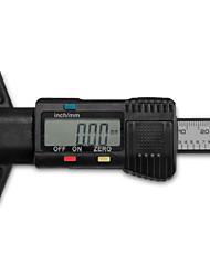 25,4 milímetros / 1-in LCD digital caliper calibre roda de pneu de carro do piso pastilha de freio preto profundidade