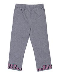 Pantalones Chica de - Todas las Temporadas - Algodón - Gris