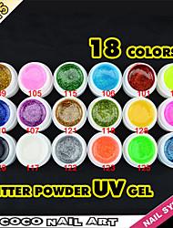 40215 fábrica de porcelana de la venta caliente 5 ml 18 colores gdcoco hermoso color ultravioleta del gel del brillo