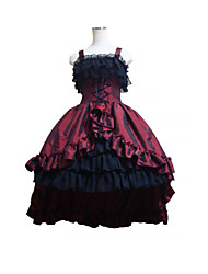 Top Sale Royal Wine Red and Black Gothic  Party Cospaly Tails Costumes