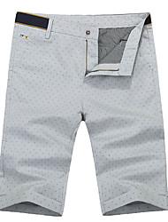 Men's Shorts , Casual / Work Print Cotton / Spandex Leisure Pants