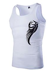 Men's Solid Casual Tank Tops,Cotton Sleeveless-Black / White / Gray