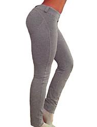 Women Solid Color Legging,Cotton Spandex Medium