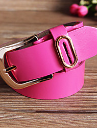 Women Calfskin Waist Belt,Casual Alloy All Seasons