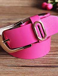 Feminino Cinto para a Cintura Casual Liga Couro Animal Feminino