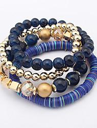 Women European Style Fashion Bohemian Exotic Multilayer Beaded Strand Bracelets