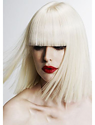 Top Quality Blonde Color Synthetic Middle Straight Synthetic Wigs