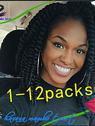 1Pack/Lot 12-24Inch Synthetic Kanekalon Fiber Havana Twist Hair Extention Crochet Braids for Female and Children