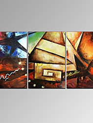 VISUAL STAR®Modern Handmade Oil Painting 3 Panel Colorful Home Decor Wall Art Ready to Hang