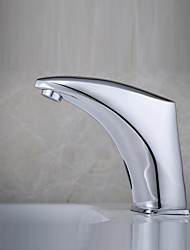 Contemporary Chrome Finish  Bathroom Sink Faucet  with Automatic Sensor Faucet