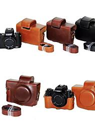 dengpin PU-Leder Kamera Tasche Abdeckung mit Schultergurt für Canon Power g5 x (verschiedene Farben)