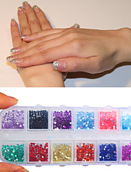 3000 Pcs Round Jewelry Nail Art Rhinestones Glitter Decoration New