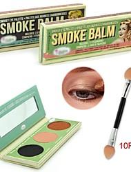 TheBalm baume smokey eye palette + 10pcs fumée brosse ombre à paupières