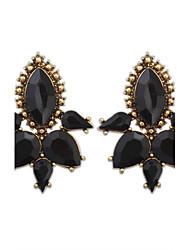 Europe Fashion Alloy Acylic Drop Stud Earrings
