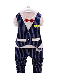 Boy's Cotton Clothing Set,Spring / Fall Striped