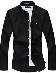 Men's Fashion Casual Long Sleeve Shirt Occupation Plus Sizes