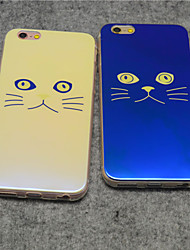 Lovely Cat Beige Cat Blue Light Reflective Blu-ray Soft TPU Case Cover  for iphone 6s/iphone 6