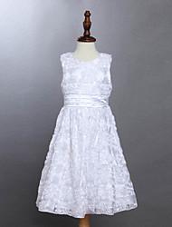 Robe Fille de Eté Coton Blanc