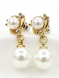 Earring Drop Earrings Jewelry Women Alloy / Imitation Pearl / Platinum Plated 1set Gold / White