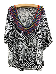 Women's Boho Halter Cover-Ups,Floral/Boho One-Pieces Polyester Multi-color