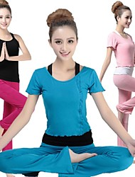 Yoga Suit Sports Causal Running Clothing Fitness Clothes Yoga Wear Gear Suits = Vest + Long Sleeve Top + Long Trousers