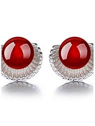 2016 Korean Women 925 Silver Sterling Silver Jewelry Gem Shell Earrings Stud Earrings 1Pair