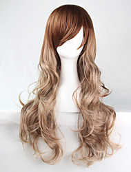 Fashion Cosplay Long Multicolor Waves of High Quality Synthetic Hair