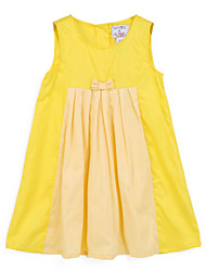 Girl's Yellow Dress,Floral Cotton Summer