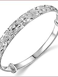 Pulseiras Bracelete Prata Chapeada Casamento Jóias Dom Prateado,1pç