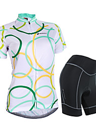 NUCKILY® Cycling Jersey with Shorts Women's Short SleeveWaterproof / Breathable / Rain-Proof / Anti-Eradiation / 3D Pad / Reflective