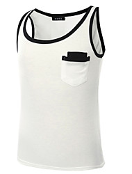 Men's Sleeveless Tank Tops,Cotton Casual / Sport Color Block