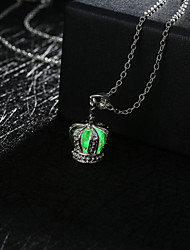 New Magical Glow in the Dark Luminous Mini Crown Pendant Necklace
