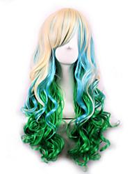 сов парик зеленый градиент Япония оригинальные sufeng вьющиеся волосы парик