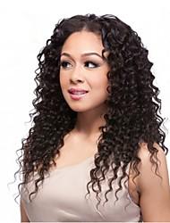 preço de fábrica peruca brasileiro virgem do cabelo humano profunda encaracolados laço completo frente para as mulheres