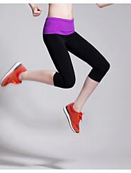 Damen Laufen 3/4 Strumpfhosen/Corsaire Leggins Unten Atmungsaktiv Videokompression Dehnbar Schweißableitend Frühling Sommer HerbstYoga