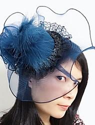 Women's Lace / Feather / Net Headpiece-Wedding / Special Occasion Fascinators 1 Piece