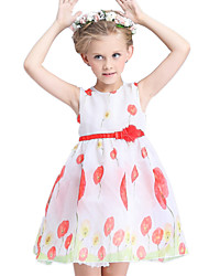 Girl's Dress,Cotton / Polyester Summer Multi-color