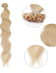 """neitsi 20 """"1 г / с кератином слияние у прибить наконечник естественная волна 100% человеческих волос 613 #"""