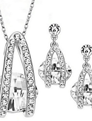 Jewelry Set Zircon Alloy Bridal Necklace/Earrings Party Daily Casual 1set Necklaces Earrings Wedding Gifts