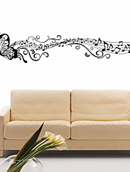 4114 Music Sticker Butterfly Theme Music Bedroom Decor & Dancing Music Note Removable Wall Sticker