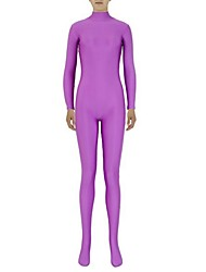 Zentai Suits Ninja Zentai Cosplay Costumes Purple Solid Leotard/Onesie / Zentai Lycra / Spandex Unisex Halloween / Christmas