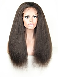 Wholesale Price  Human Hair Kinky Straight Lace Front Wig /Full Lace Wigs for Black Women