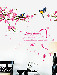 Wall Stickers Wall Decals Style Flower Of Spring PVC Wall Stickers