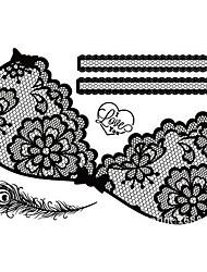 Tearbeauty-Pintura Corporal Temporal-Encaje-Otros-Mujer / Adulto-Negro-Papel-1-34cm*23cm-006