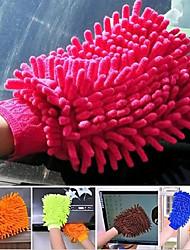 duplex fenêtre microfibre nettoyage de la maison de lavage chiffon serviette duster gant (couleur aléatoire)
