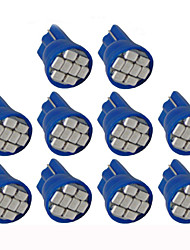 Lorcoo™ 10PCS LED Car Lights Bulb  T10 3528 4-SMD 194 168(White,Blue)