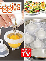 1PCS The Egg Yolk Separator+6PCS Egg-Boiler Egg Steamer